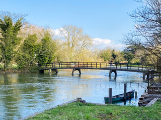 Footbridge over one of the backwaters at Sonning