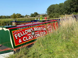 This boat was built in 1935 for cargo carrying for British Waterways. Now fully restored in original livery