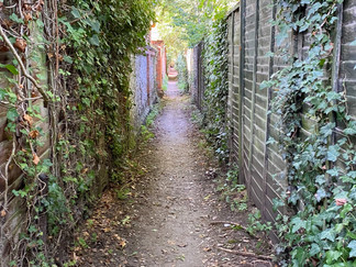 Along this alley where I eventually emerged onto a main road