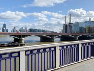 Looking back at Battersea Power Station & Vauxhall Bridge