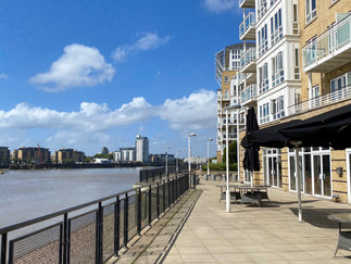 The redevelopment of docklands makes these a common sight - loads of riverside apartment blocks