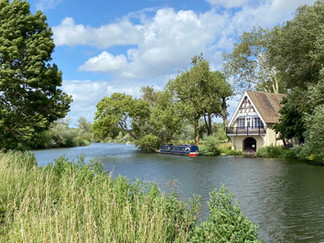 An attractive boathouse