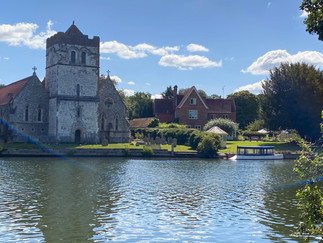 All Saints Church Bisham. Bisham Abbey National Sports Centre is about 200 yards to the right
