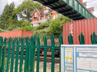 The path crosses the railway here