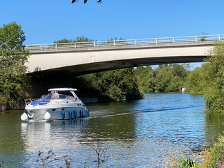 The bridge carrying the A404
