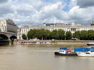 Somerset House with Waterloo Bridge to the left