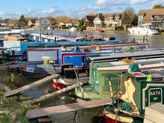 Houseboats at Runnymede Boatyard