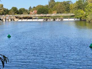 Approaching Benson Lock & Weir