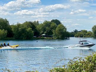 Banana boat on Manorbrook Lake
