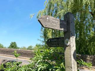 At Sonning Bridge where the path crosses to the north bank