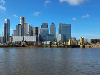 Great views of the Canary Wharf business area