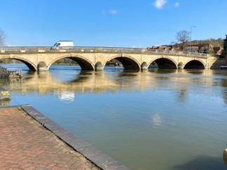 Looking back to Henley Bridge