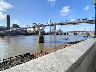 Millennium Bridge - originally opened in June 2000. Tate Modern on south bank