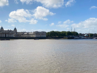 Looking across to the Greenwich skyline