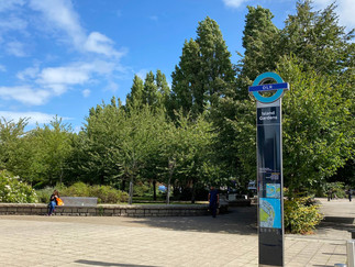 Emerging from Island Gardens DLR station