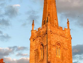 St Lawrence Church at dusk