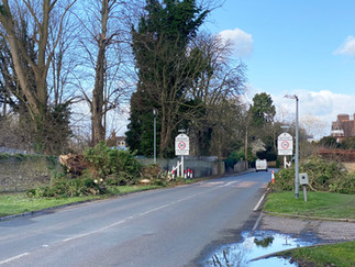 Path passes briefly through Datchet