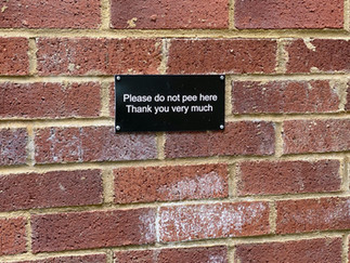 What a polite sign - but shouldn't be necessary!