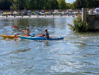 Kayakers enjoying the river
