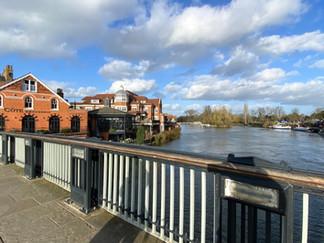 Windsor Bridge looking towards Romney Lock