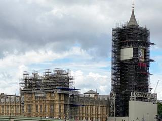 Parliament & Big Ben not looking at their best