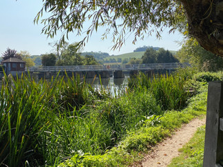 Looking back towards the weir