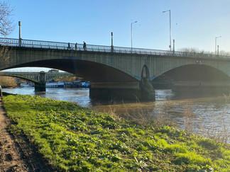 Twickenham Bridge. Richmond Railway Bridge behind it