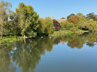View upstream from Clifton Hampden Bridge