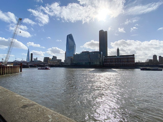 Sea Containers House. One Blackfriars to the left and South Bank Tower to the right