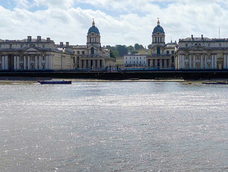 Looking across to the Old Royal Naval College