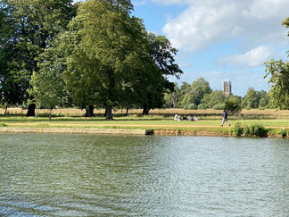 Christ Church Meadow. The tower of Magdalen College in the background