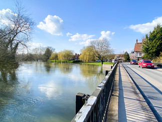 One of the 2 backwater bridges at Sonning