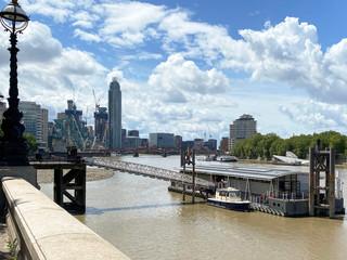 Next bridge is Vauxhall Bridge