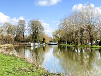 Looking back at Shipley Lock