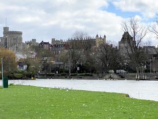 The Brocas looking across to Windsor