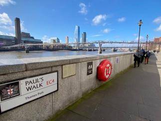 Millennium Bridge ahead