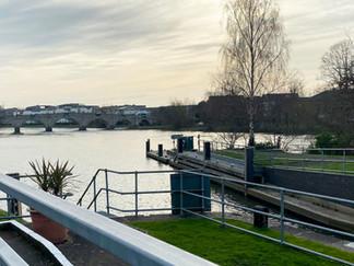 Looking back towards Chertsey Bridge