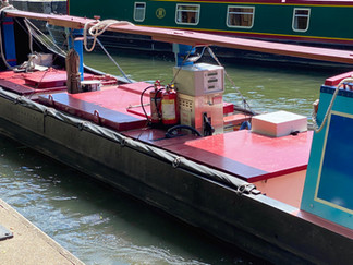 This narrowboat supplies diesel to boats on the Thames
