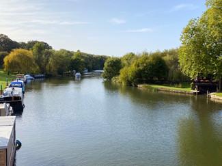 View upstream from the bridge