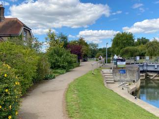 Godstow Lock - the furthest upstream lock with hydraulic gates