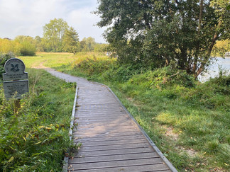 Entering Pangbourne Meadow