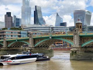 Southwark Bridge looking downstream