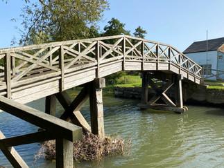 Eaton Footbridge - site of a former lock & weir