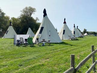 Striking campsite