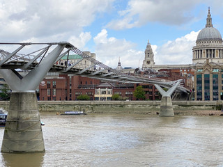 Millennium Bridge - originally referred to as the Wobbly Bridge