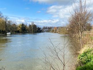 Path is now on Cuckoo Weir Island