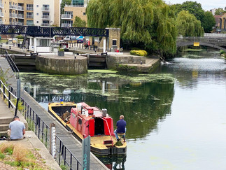 On the other side of the bridge is Brentford Lock