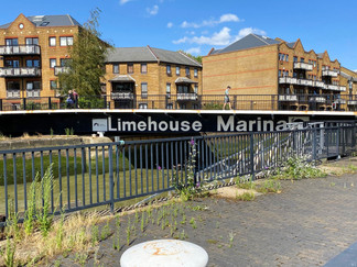 Limehouse Basin & Marina. This is a swing bridge to allow marina access for yachts