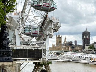 London Eye looking towards the Houses of Parliament
