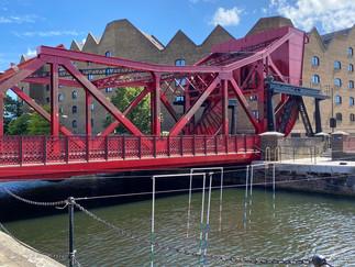 One of 2 preserved bascule bridges in docklands